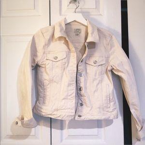 J. Crew white denim jacket, EUC